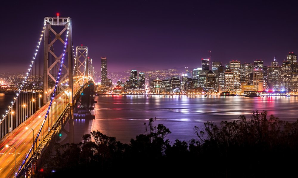 First breathtaking view greets you yet at the exit from the Bay Bridge to the Island.