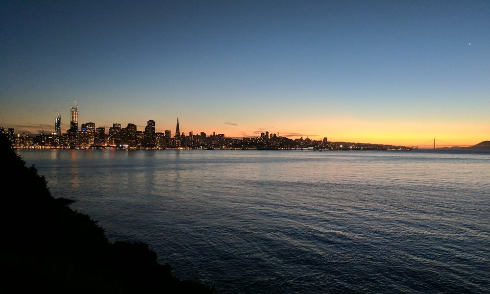 San Francisco at sunrise is equally gorgeous as at sunset. No filters.