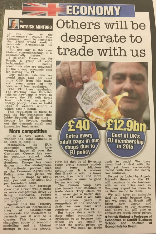 The Sun - Others will be desperate to trade with us