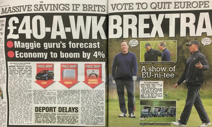 The Sun - Massive savings if Brits vote to quit Europe