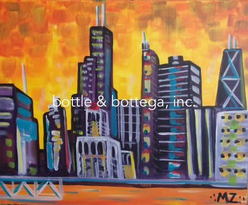 Chicago Pride Painting Party -  Saturday:Bottle & Bottega Chicago Lakeview