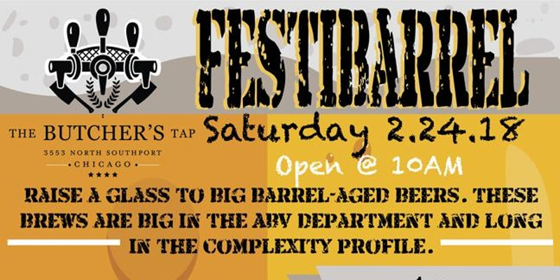 FESTIBARREL -  Saturday @ 10am:The Butcher's Tap