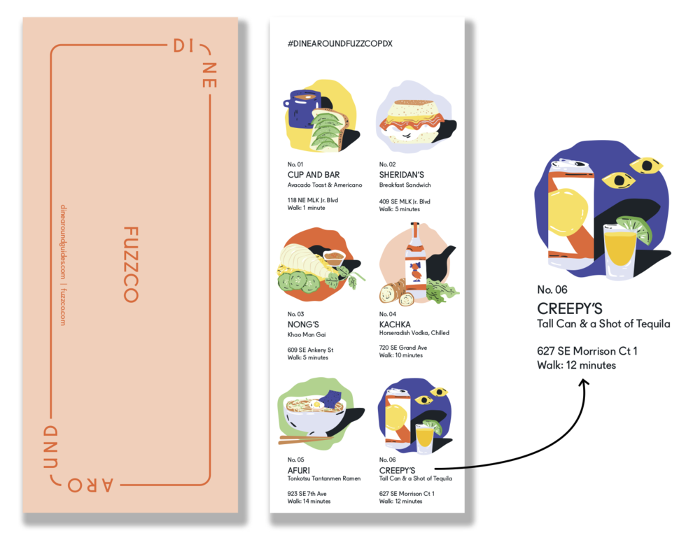 We create custom printed and digital DineAround guides for hotels, brands, events, and more.  - Take a peek at our client work.