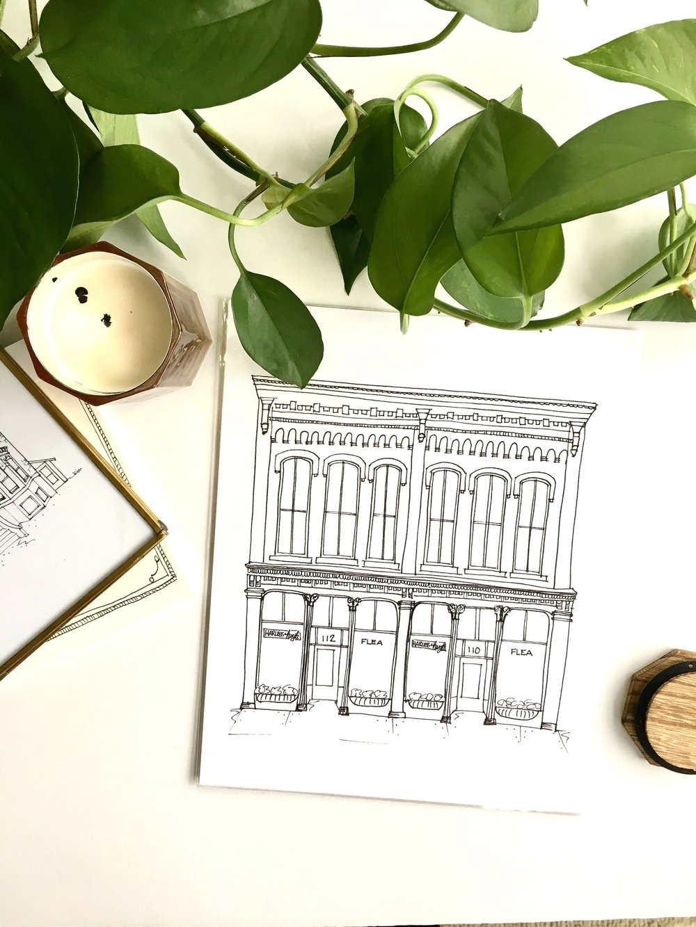 Original Black & White // Custom House Portrait