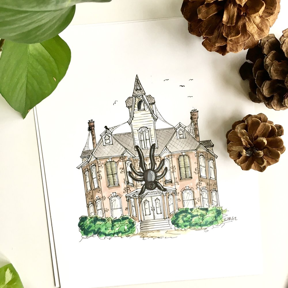 Original Color // Custom House Portrait