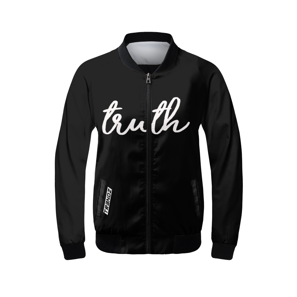 "Ladies ""truth"" All black Bomber jacket. - $57.99"