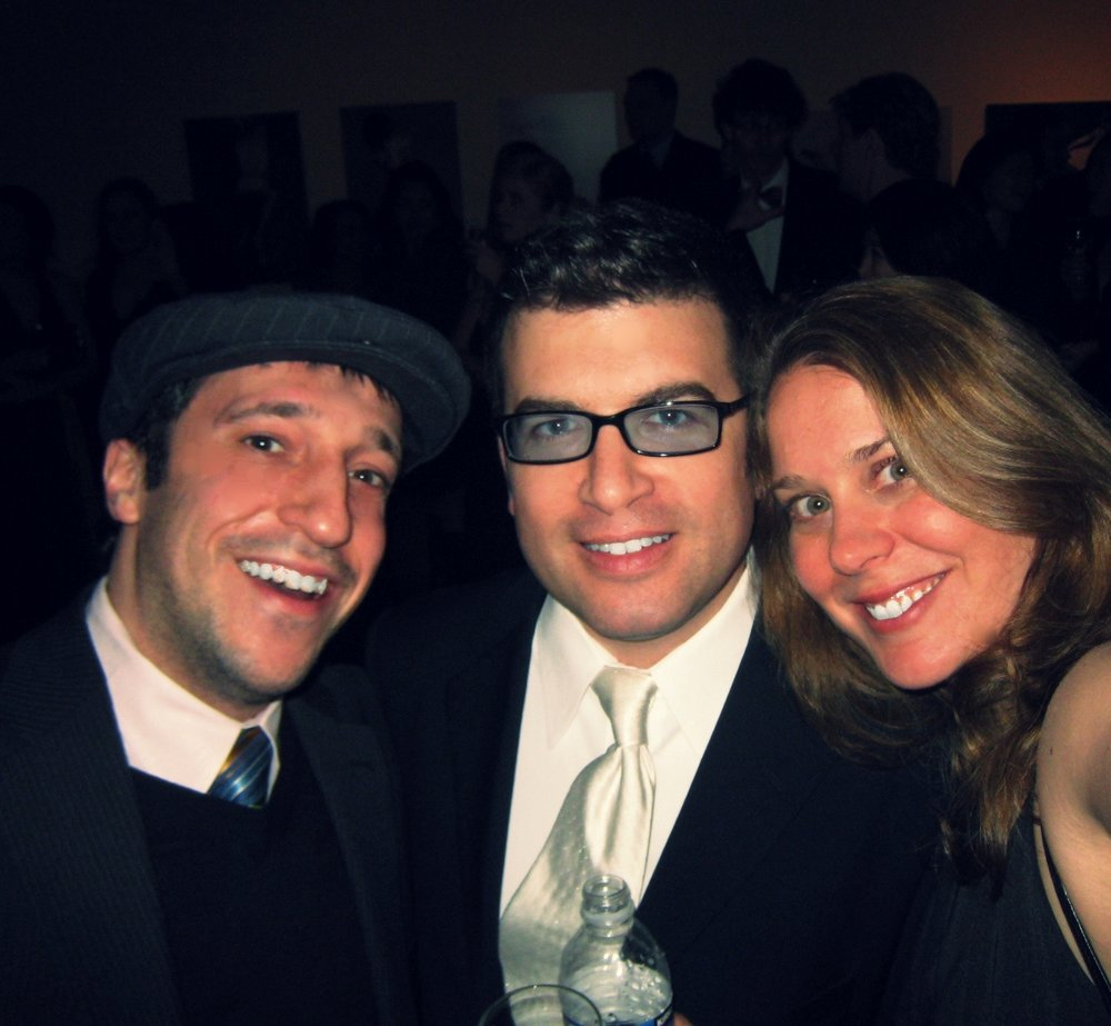 Hilton, me, Nancy at Academy Awards party in DC
