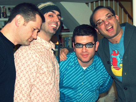 Russ,  Todd , me & Jim at Jeff's house taping a  UsedWigs  podcast