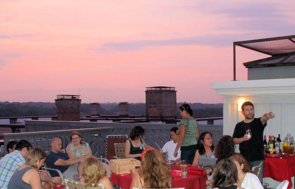 Me (at right) hosting a party on the roof of  The Ontario , Washington, DC