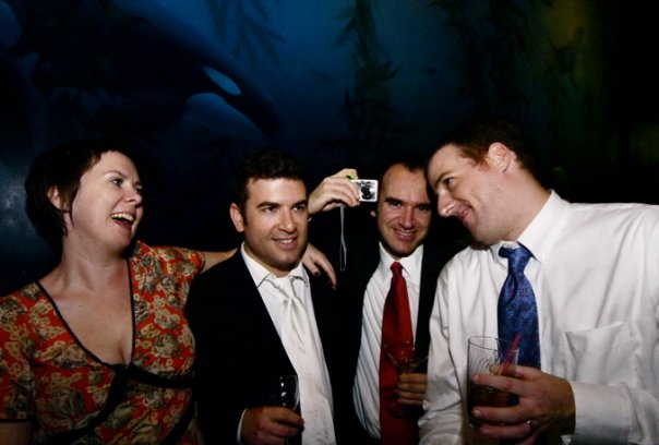 Jessica, me, Rafael and Chris at Ruth's wedding on Long Island