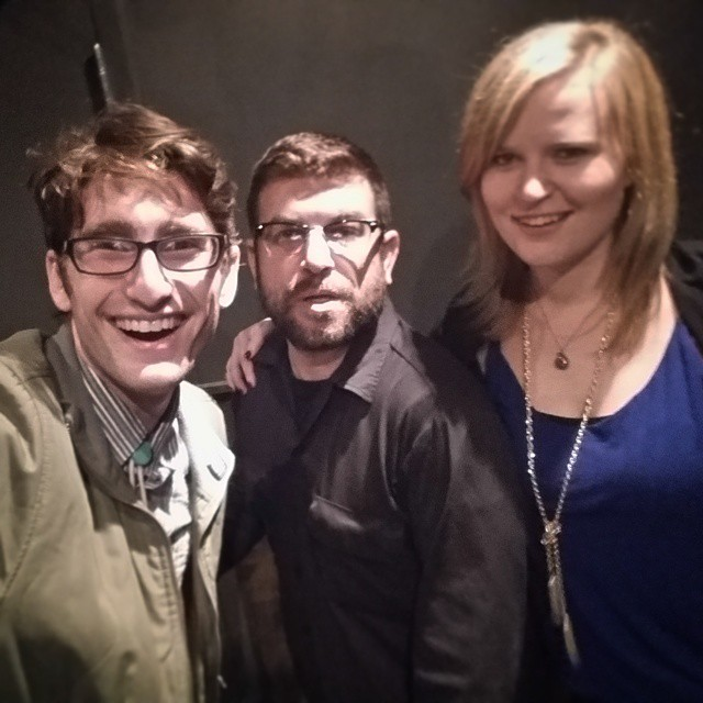 Ben Droz   himself! Plus me and our timer/lovely stage helper Jennifer Clark in the green room at   U Street Music Hall   DC (Photo: Ben Droz!)