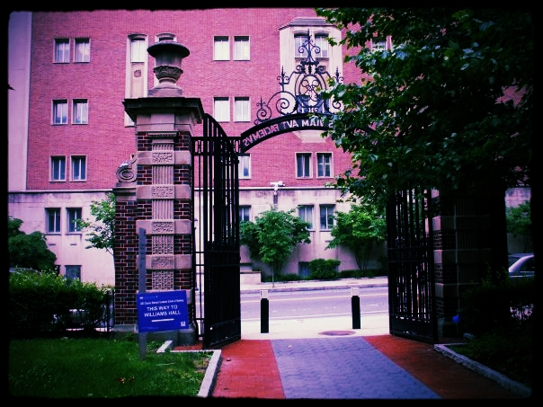 Gate outside Williams Hall, where my office was as a Graduate TA at Penn. There used to be a food truck where I got my cheesesteak every day.