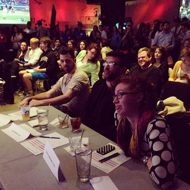 Judging the District Karaoke Citywide Finals, Penn Social, Washington, DC