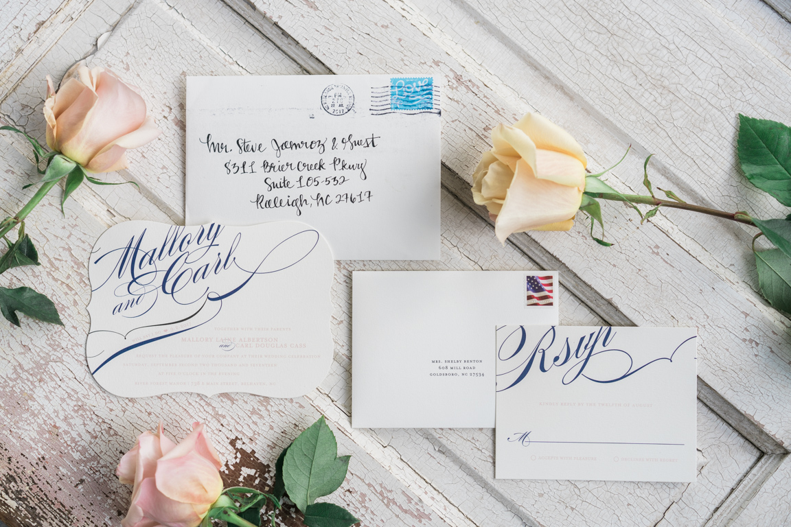 Mallory\'s Minted.com Winter Flourish Wedding Invitations