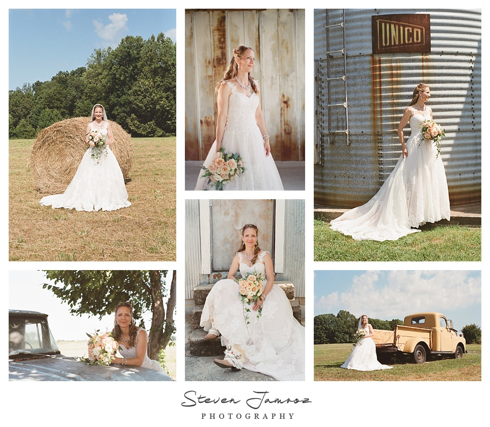 starlight meadow bridal portraits burlington nc