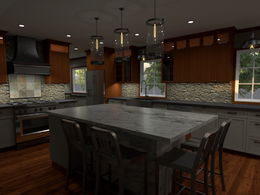 Conceptual rendering of proposed kitchen