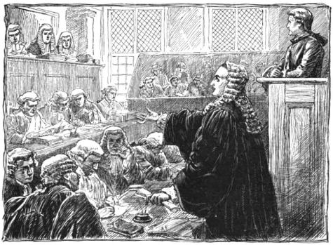 The Zenger Trial depiction in 1734