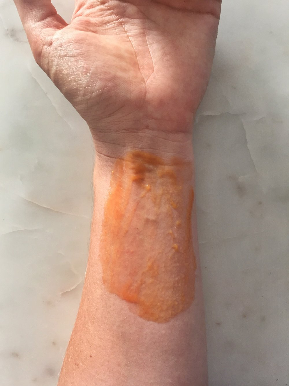 papaya, honey, lemon - Take one small papaya + juice from one lemon + a tablespoon of Manuka HoneyApply to brown spots, or sun damaged skin, and leave on for 5 minutesRinse + gently dry your skinKeep your mask in the fridge, so that you can use it once a week for the next six weeks