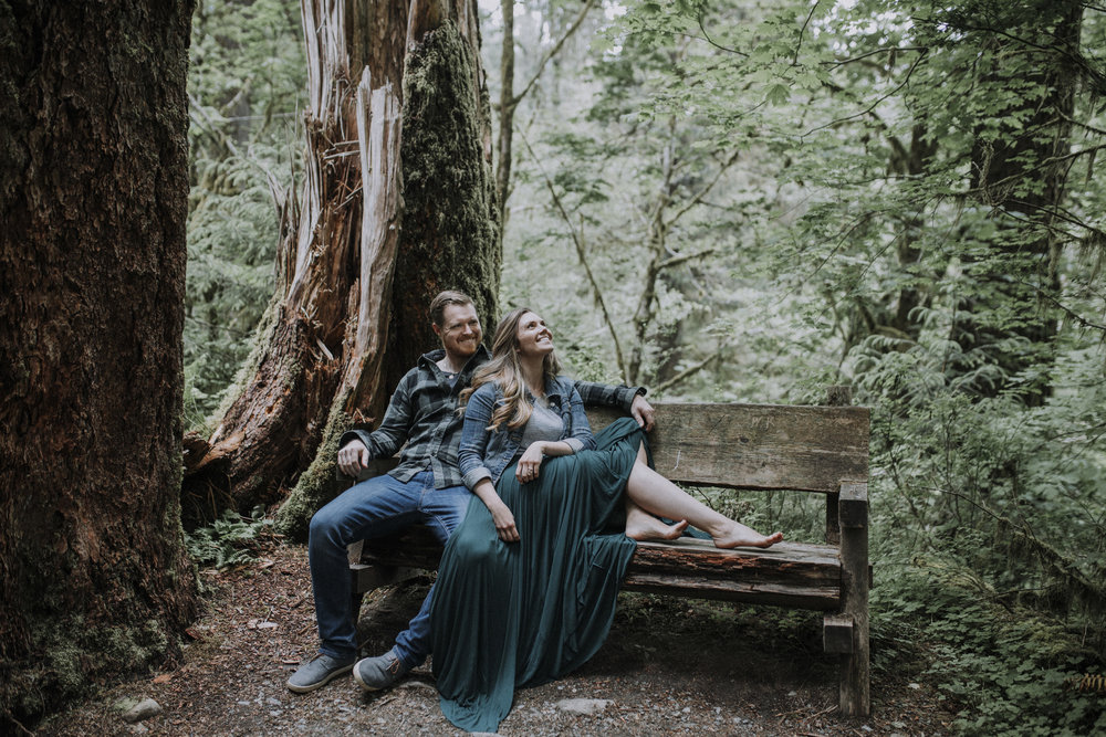 Hoh National Park Engagement Photography