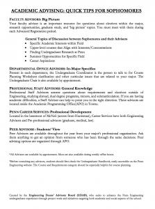 Sophomore Advising Information