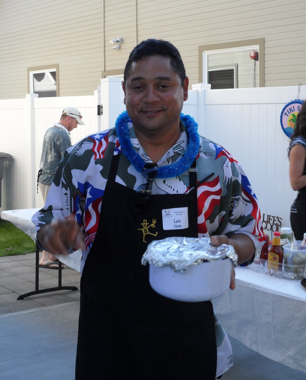 Here is Luis, our fav chef with his secret marinade sauce to make our cheeseburgers a gourmet experience.