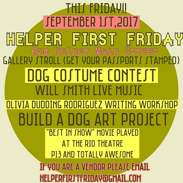 Don't miss yet another super fun event this Friday. Bring your doggies and have a blast!!! TONS of activities for the whole family!