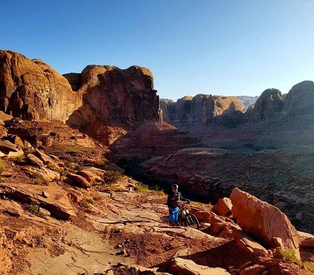 Taking advantage of cooler temps in the Moab #mtb #moab #utah #utahisrad #trek #santacruzbicycles #iamspecialized
