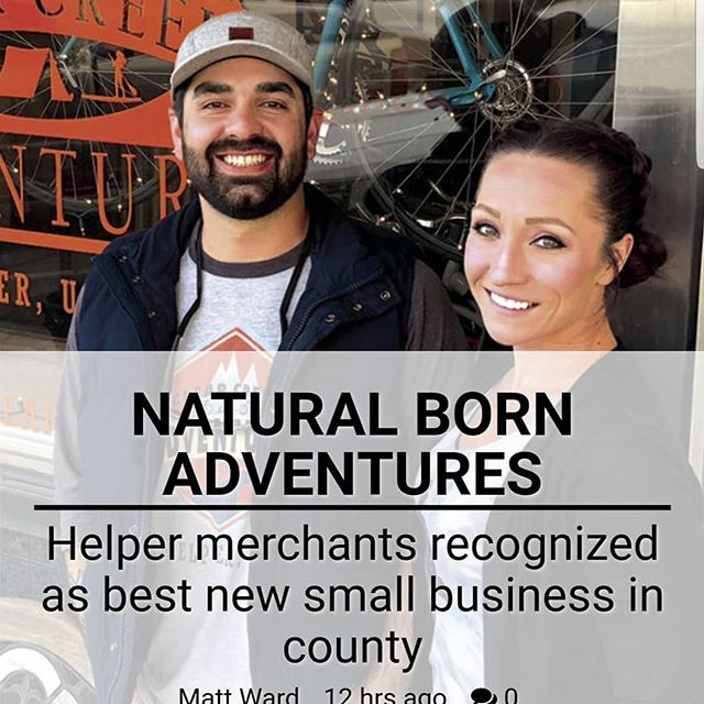 """""""Clear Creek Adventures is not yet a year old, but it is already woven into the eclectic culture taking root in Helper."""" - Matt Ward,  Sun Advocate Article link in bio 😊🤗😀👍"""