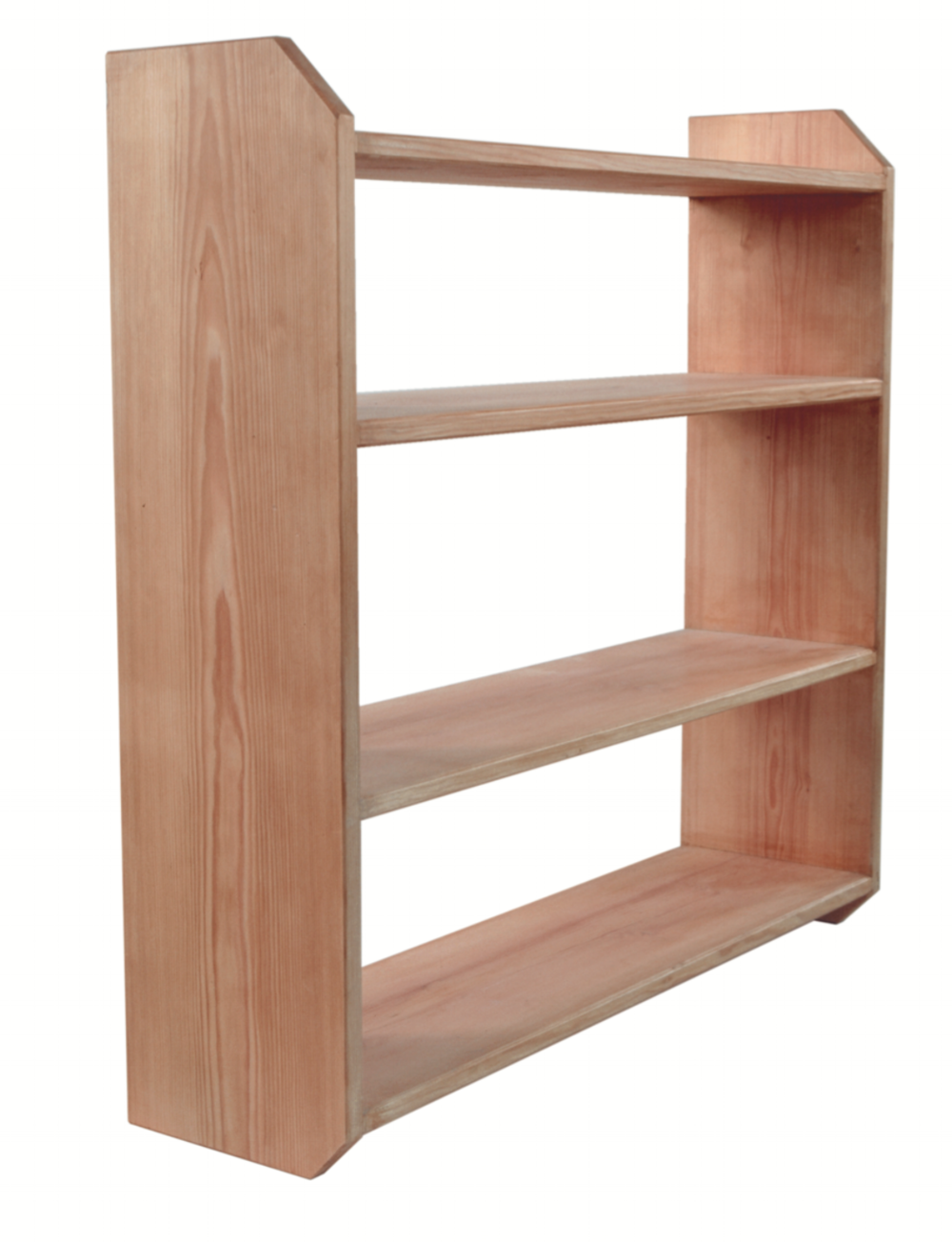 Shelves made with sliding dovetails.