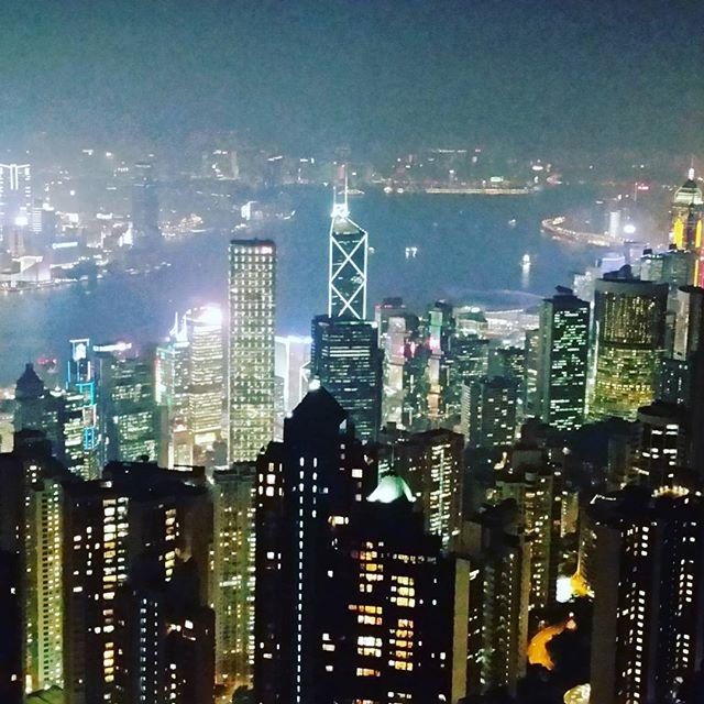View atop Victoria Peak.  #hongkong #victoriapeak