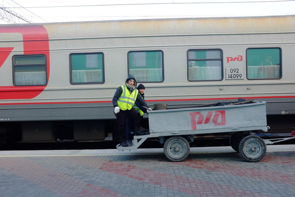 coal at stop trans siberian