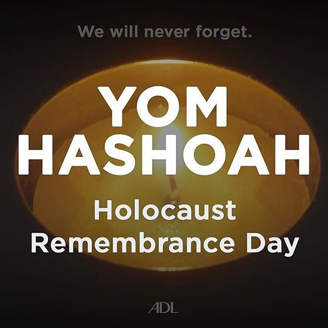 WE WILL NEVER FORGET! Holocaust Remembrance Day! Yom Hashoah! Repost from @adl_national #yomhashoah #holocaustremembrance #holocaustremembranceday #neveragain #wewillneverforget #stophate #stopantisemitism #endantisemitism