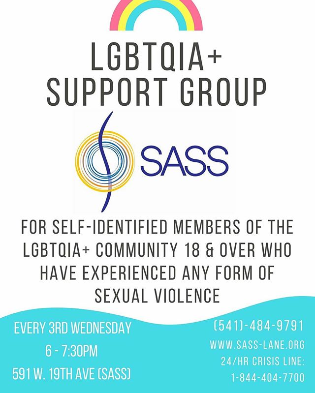 Support opportunity for LGBTQIA+ individual who have experienced ANY form of sexual violence. Thank you SASS! #lgbtq #lgbtqsafezone #sexualassaultsupport #stopsexualabuse #stopsexualassault #stopsexualviolence #stopsexualharassment #nationalorganizationforwomen #swvnow