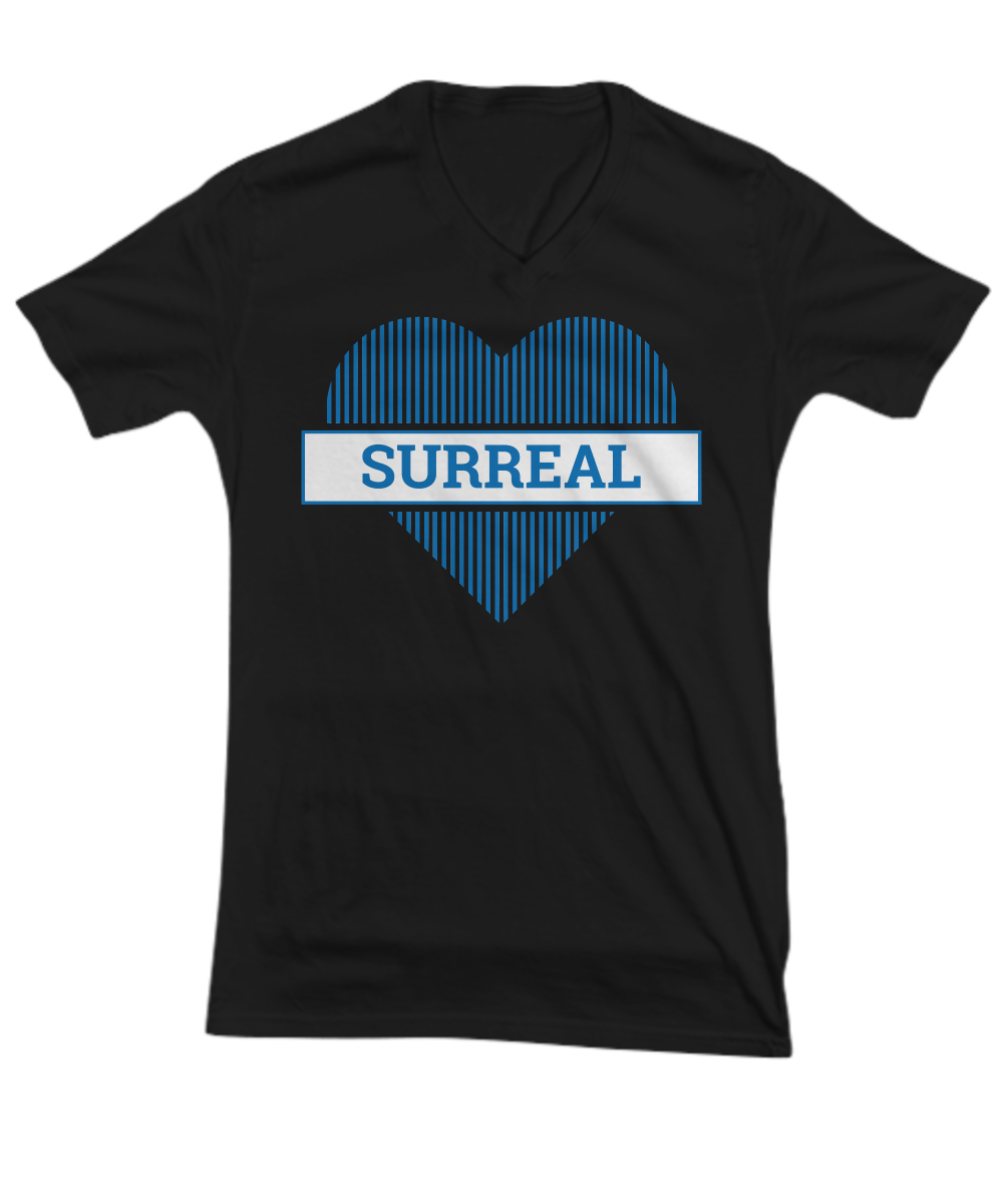 Surreal Striped Blue Heart TeeShirt - $22.95
