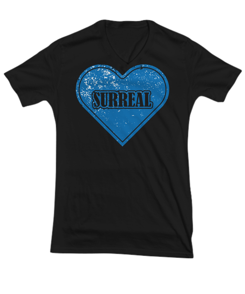 Surreal Solid Blue Heart TeeShirt - $22.95