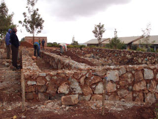 Mlimani classroom, Aug 2012 The foundation.