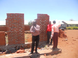 Inspecting Mlimani School, Feb 2012