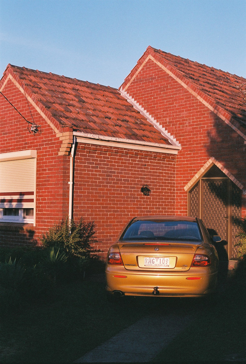 photography suburb melbourne sunset house garden car