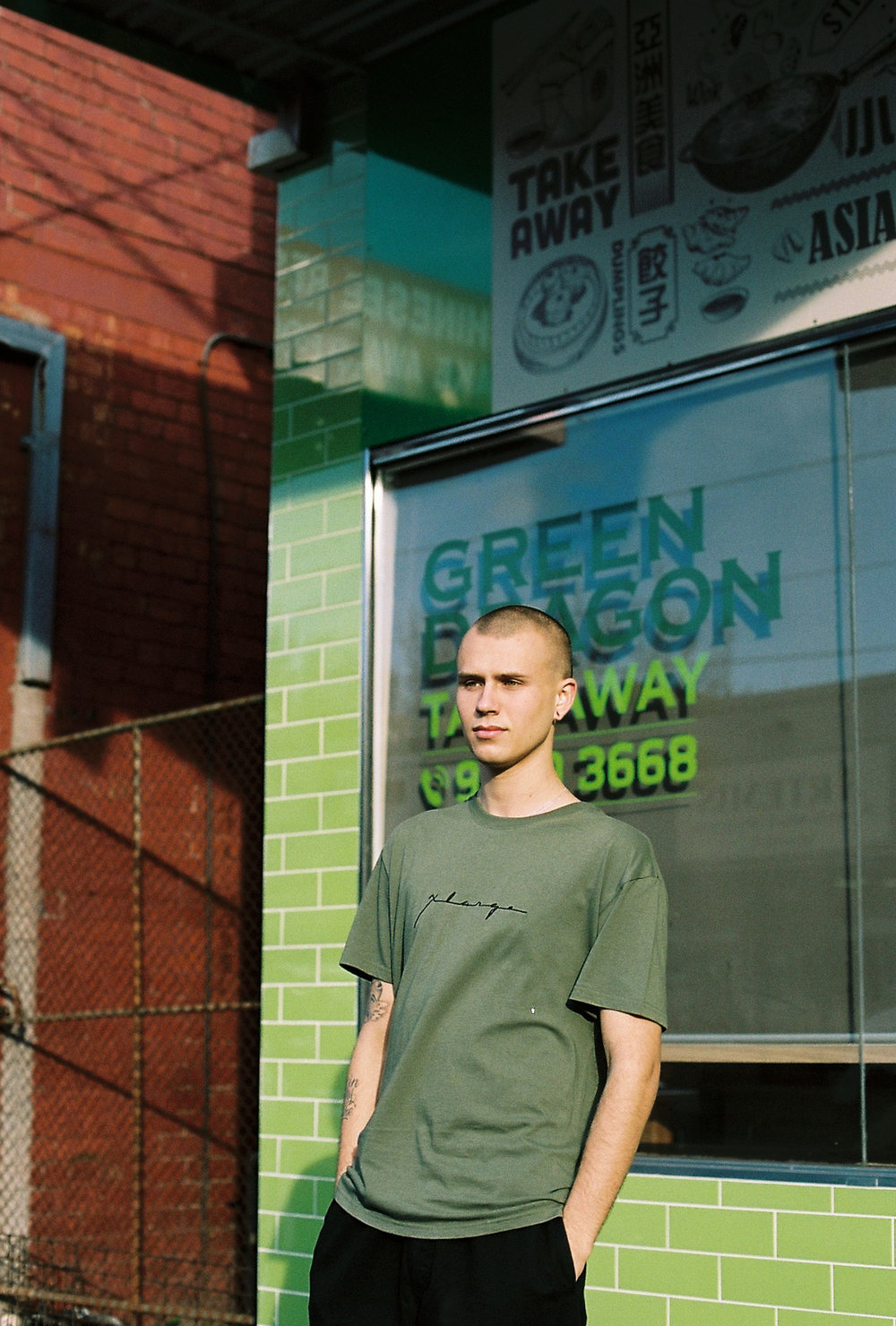photography model fashion male 35mm green portrait