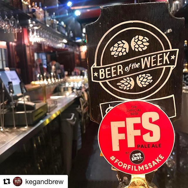 Feeing a bit flat now that FFS17 is all over? Scoot on over to @kegandbrew sooner rather than later! They're serving over amazing @twobirdsbrewing pale ale now! Cheers guys ♥️🍻#forfrothssake #forfilmssake_syd #twobirdsbrewing