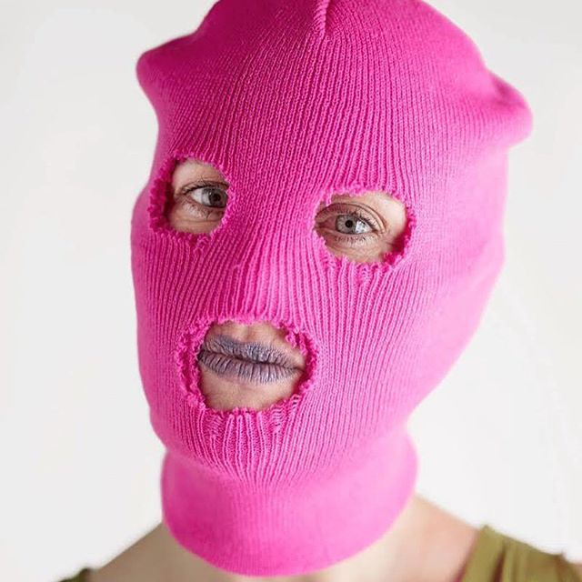 """Although I am the founder of Pussy Riot, it does not make Pussy Riot belong to me, nor does it make me an offical representative of Pussy Riot. Because, Pussy Riot doesn't have anything to do with officials, rather, it is a tool for organisation and empowerment. It's simple and fun, and it's what democracy looks like, because anybody can put on a bright mask and express their ideas wherever they like - in parliament, on the streets or at a subway station - this could be a photo of anyone"" - Nadya Tolokonnikova #200women #jointhetalkingcircle #peoplelikeus #nadyatolokonnikova #pussyriot @wearepussyriot @tolokno_ @200women"