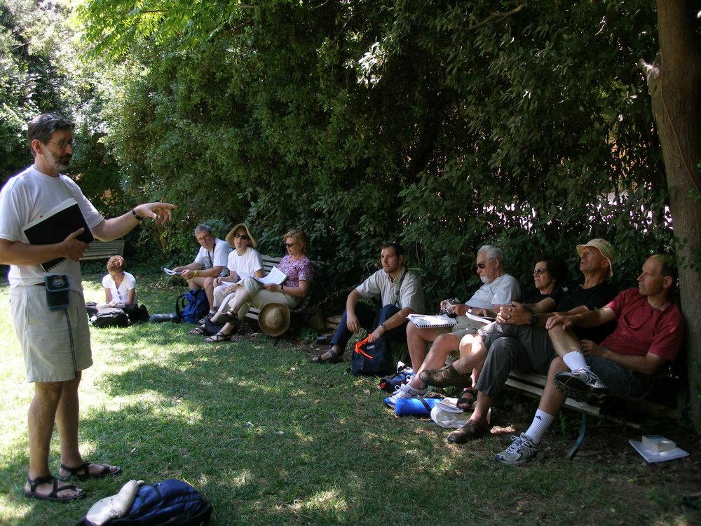 David teaching at Agnon House in Jerusalem (2004)
