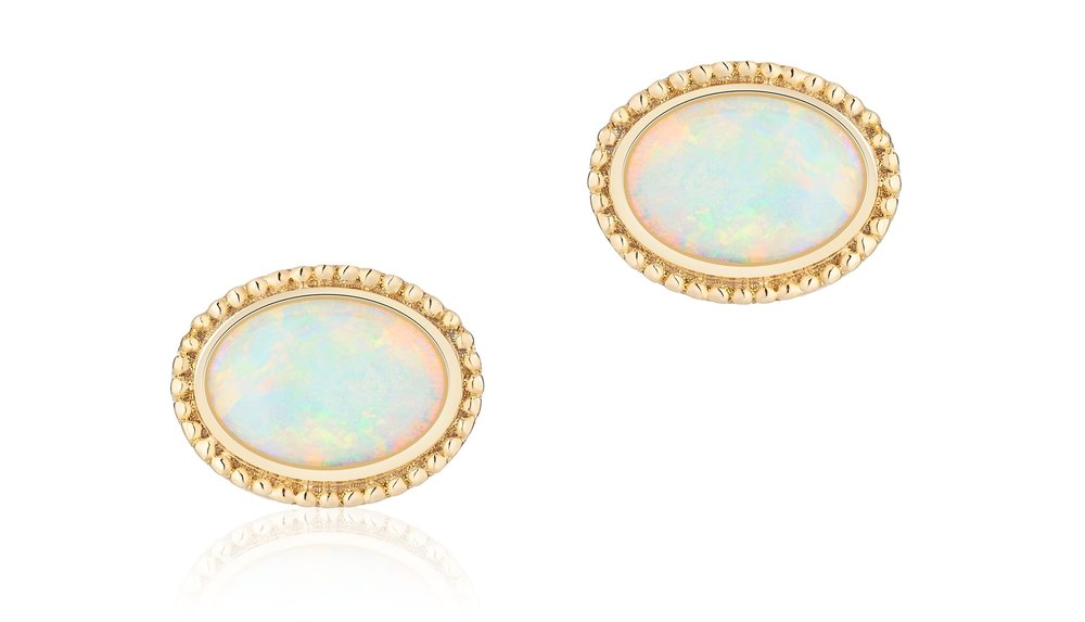 Les Plaisirs de Birks Yellow Gold and Opal Earrings 450011811629.jpg