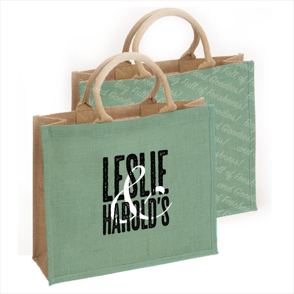 Leslie & Harold's Bag Design Mock-up