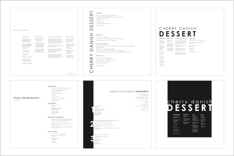 Process Poster Design Build-up