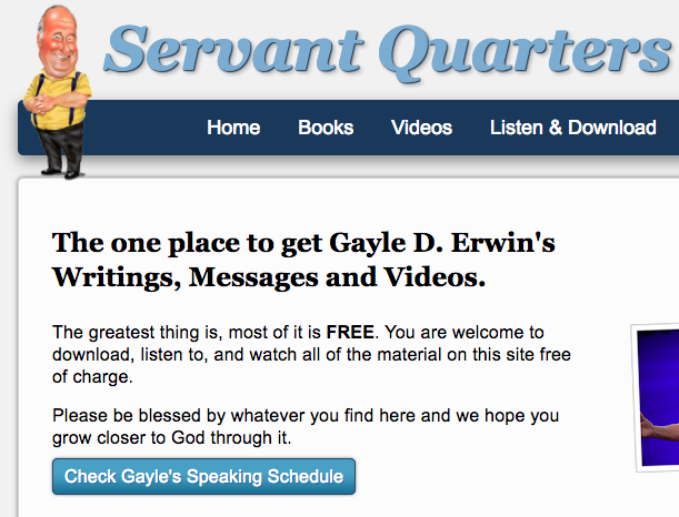 Servant.org (Gayle Erwin author of the Jesus Style)