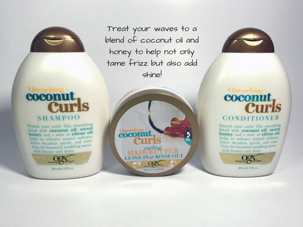 Looking for a line that provides comprehensive care to your waves? Try OGX's Quenching+ Coconut Curls.