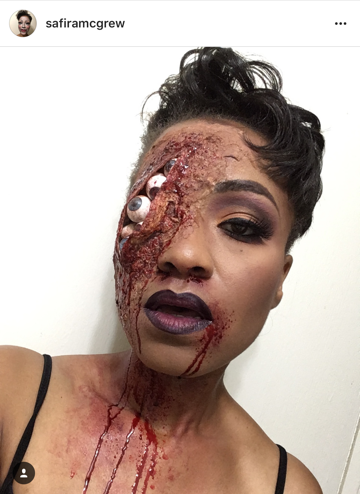 We were legit scared after seeing this SFX look @ safiramcgrew