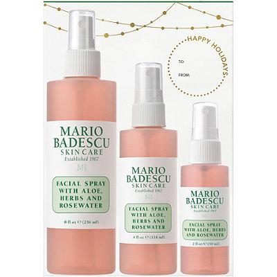 MARIO BADESCU Home & Away Facial Spray with Aloe, Herbs, and Rosewater Trio
