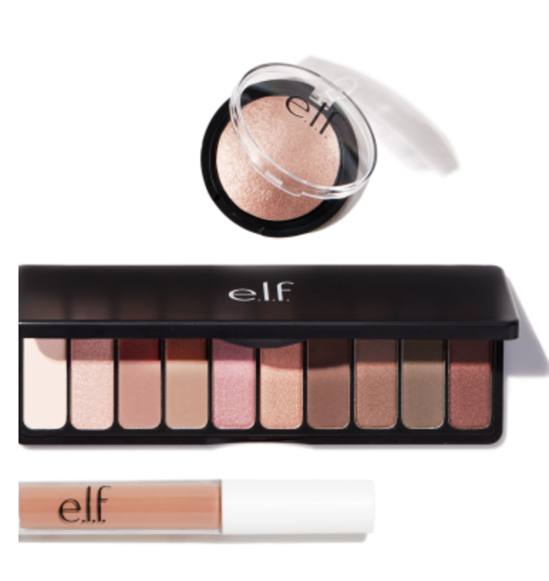 elf rose gold beauty set